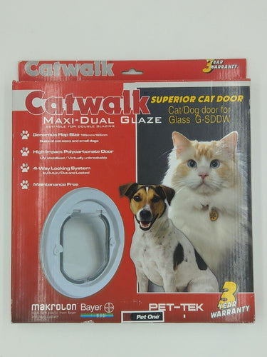 CATWALK MAXI DUAL GLAZE CAT DOOR FOR GLASS G-SDDW - City Country Pets and Supplies