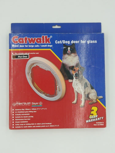 CATWALK MAXI LARGE CATS/SMALL DOGS DOOR FOR GLASS (G-SDDW) - City Country Pets and Supplies