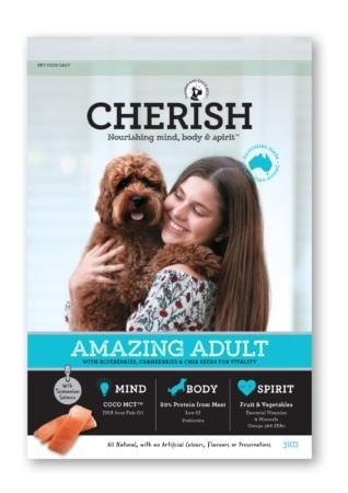 CHERISH AMAZING ADULT DOG 3KG - City Country Pets and Supplies