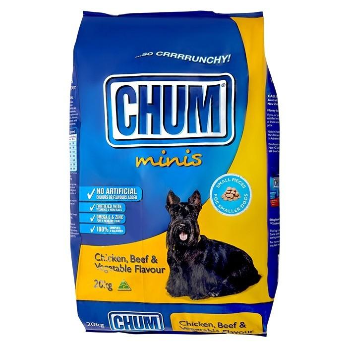 CHUM MINIS CRUNCHY CHICKEN, BEEF & VEGETABLE 20KG - City Country Pets and Supplies