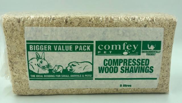 COMFEY PET COMPRESSED WOOD SHAVINGS 5L - City Country Pets and Supplies
