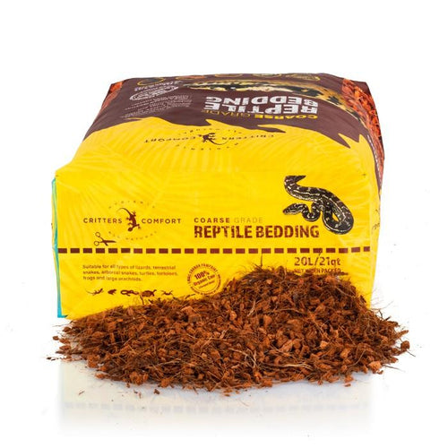 CRITTERS COMFORT REPTILE BEDDING (COARSE - 20L) - City Country Pets and Supplies