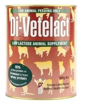 DI-VETELACT LOW LACTOSE ANIMAL SUPPLEMENT 900G - City Country Pets and Supplies