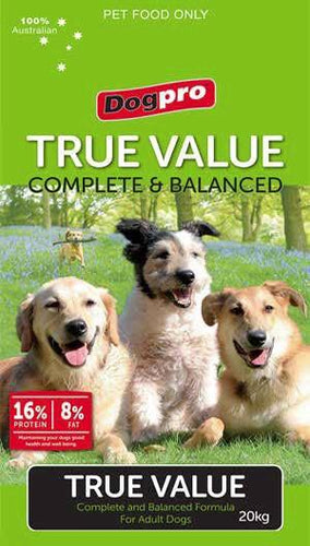 DOGPRO ADULT TRUE VALUE DOG FOOD 20KG - City Country Pets and Supplies