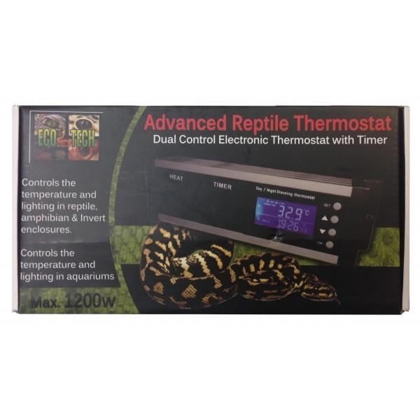 ECO TECH ADVANCED REPTILE THERMOSTAT MAX 1200W DUAL CONTROL ELECTRONIC WITH TIMER - City Country Pets and Supplies