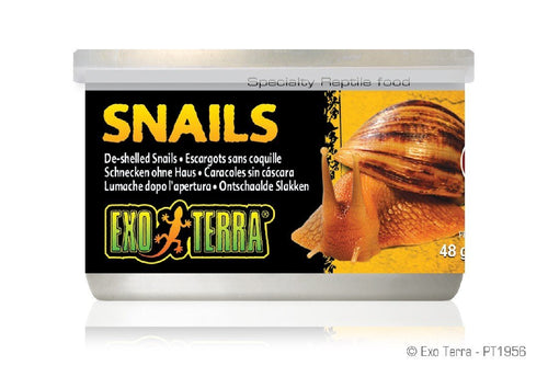 EXO TERRA CANNED SNAILS 48G SHELL FREE - City Country Pets and Supplies