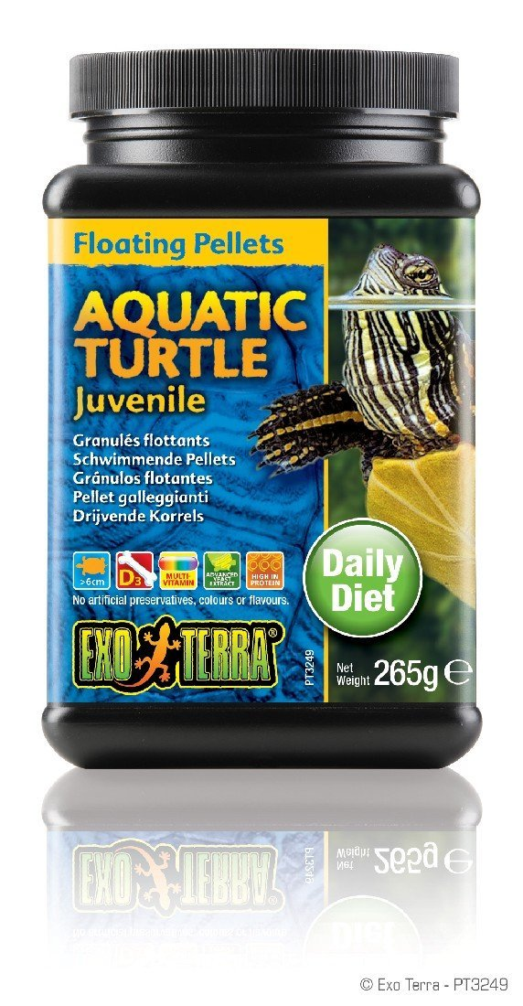 EXO TERRA FLOATING PELLETS AQUATIC TURTLE JUVENILE 265G - City Country Pets and Supplies