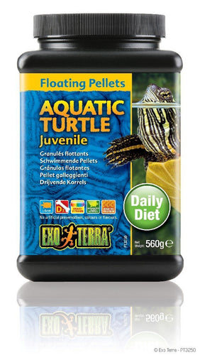 EXO TERRA FLOATING PELLETS AQUATIC TURTLE JUVENILE 560G - City Country Pets and Supplies