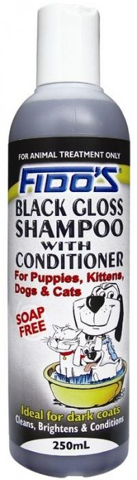 FIDOS BLACK GLOSS SHAMPOO 250ML P2950 - City Country Pets and Supplies