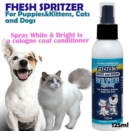 FIDOS WHITE & BRIGHTFRESH SPRITZER 125ML - City Country Pets and Supplies