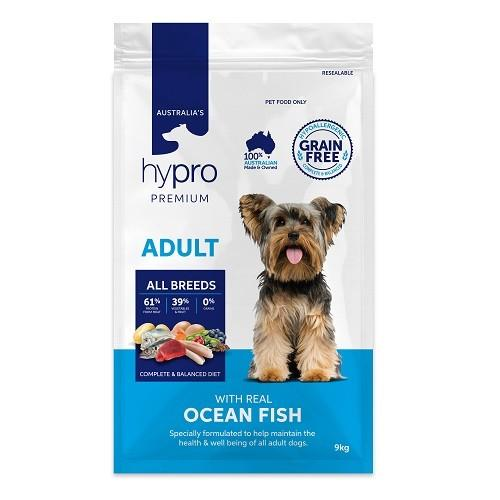 HYPRO PREMIUM ADULT WITH REAL OCEAN FISH 9KG - City Country Pets and Supplies
