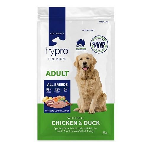 HYPRO PREMIUM GRAIN FREE ADULT CHICKEN & DUCK 9KG - City Country Pets and Supplies