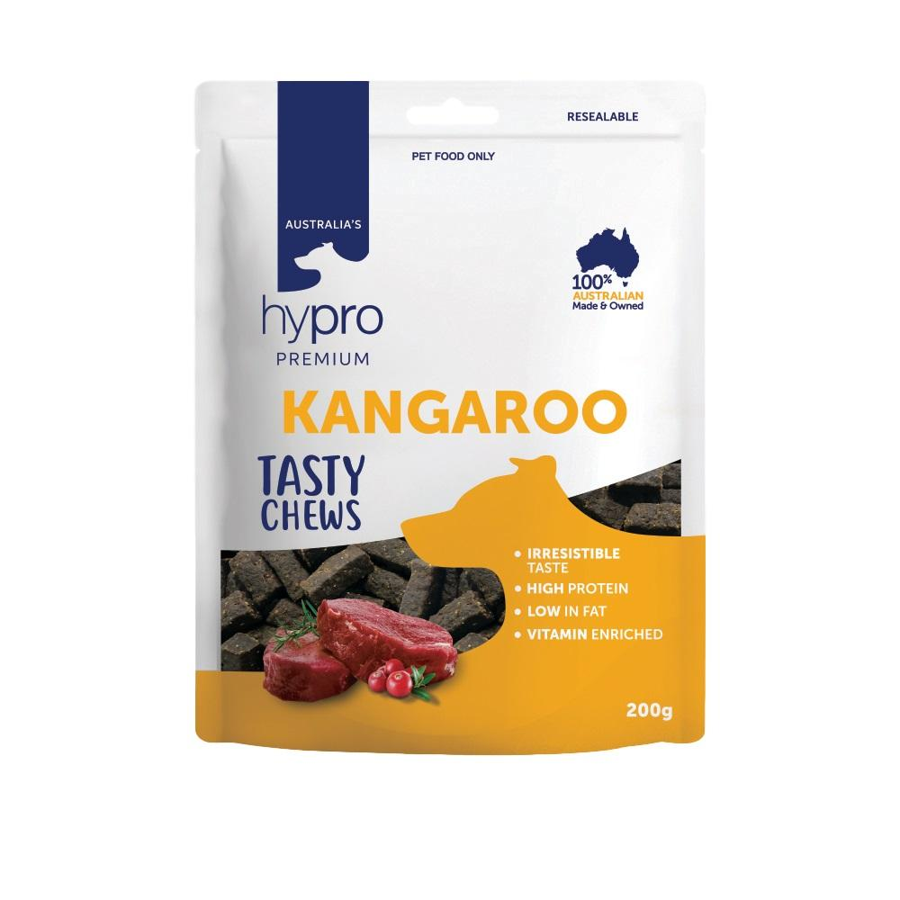 HYPRO PREMIUM TASTY CHEWS KANGAROO DOG TREATS 200G - City Country Pets and Supplies