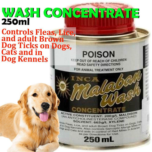 INCA MALABAN WASH CONCENTRATE FOR FLEA CONTROL 250ML - City Country Pets and Supplies