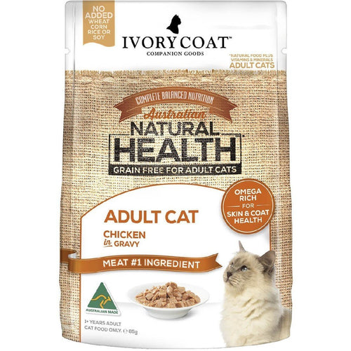IVORY COAT ADULT CAT CHICKEN IN GRAVY WET FOOD 85G - City Country Pets and Supplies