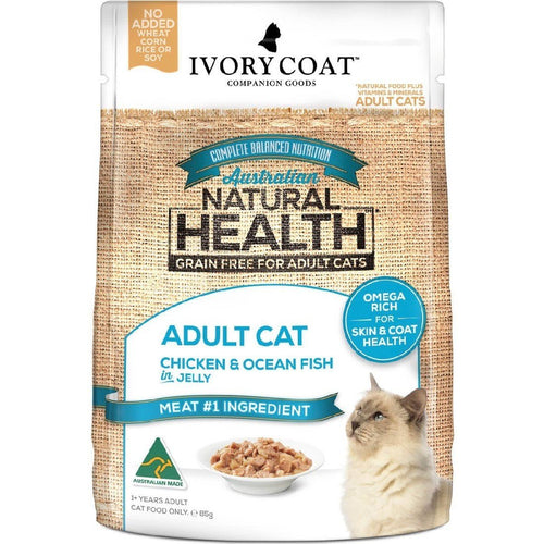 IVORY COAT ADULT CAT CHICKEN & OCEAN FISH IN JELLY WET FOOD 85G - City Country Pets and Supplies
