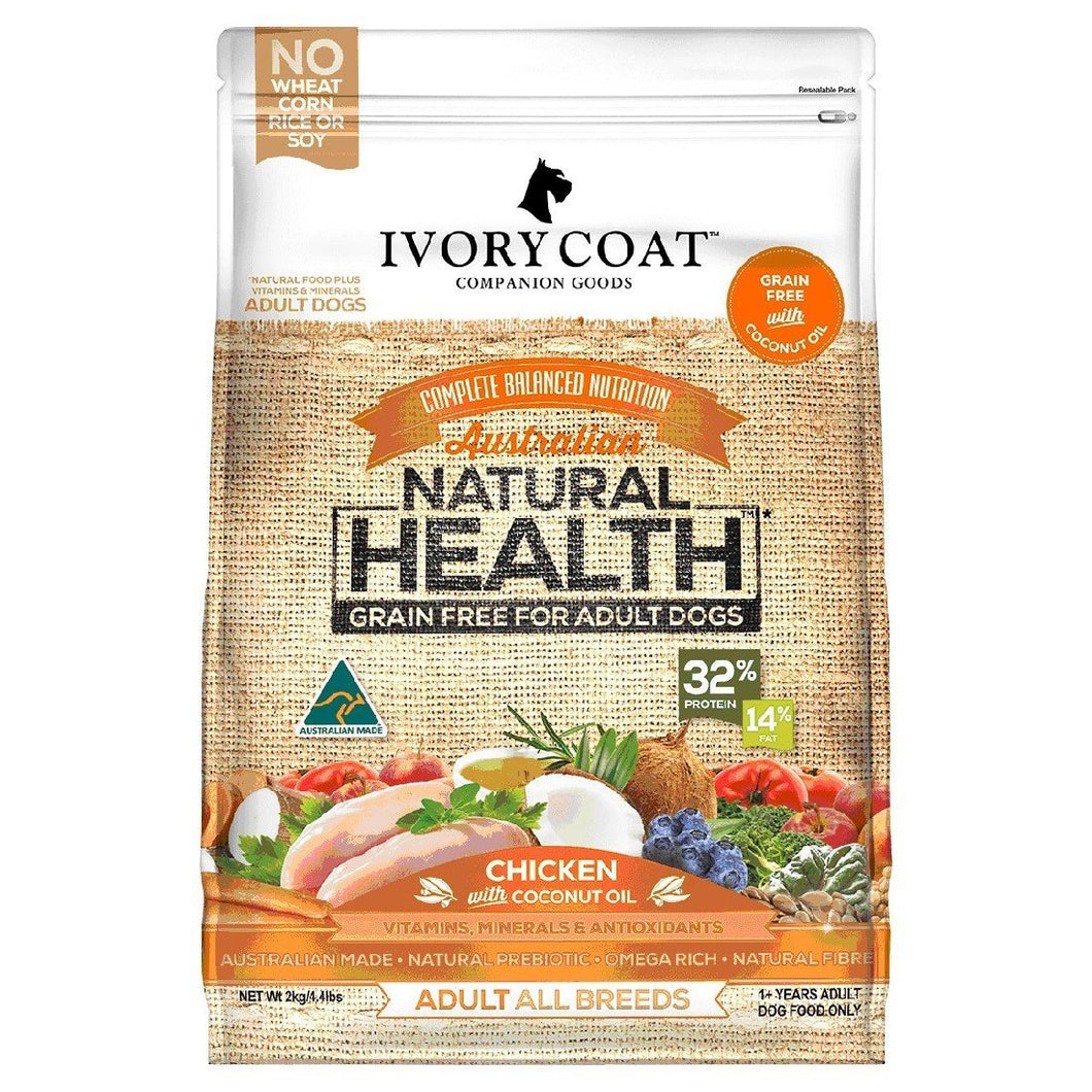 IVORY COAT ADULT CHICKEN WITH COCONUT OIL ADULT DOG FOOD 13KG - City Country Pets and Supplies