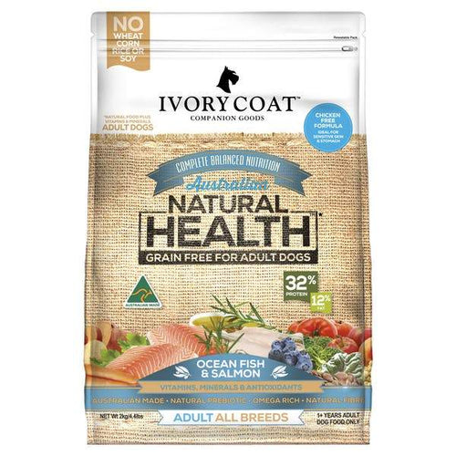 IVORY COAT ADULT OCEAN FISH & SALMON DOG FOOD 13KG - City Country Pets and Supplies