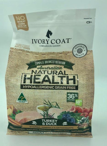 IVORY COAT ADULT TURKEY & DUCK 2KG - City Country Pets and Supplies