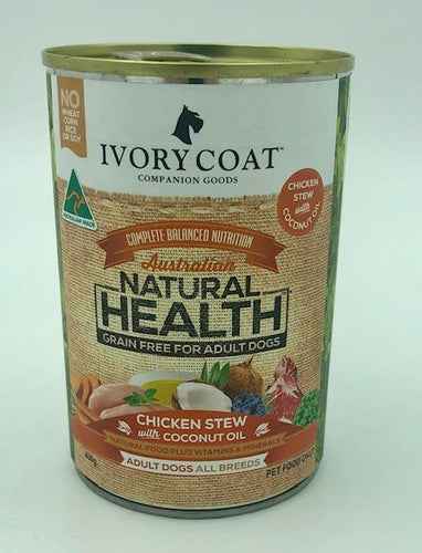 IVORY COAT CHICKEN STEW WET FOOD 400G - City Country Pets and Supplies