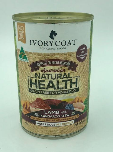 IVORY COAT LAMB & KANGAROO STEW 400G - City Country Pets and Supplies