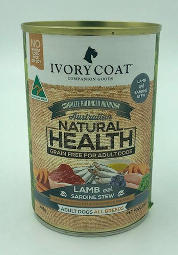 IVORY COAT LAMB & SARDINE STEW 400G - City Country Pets and Supplies