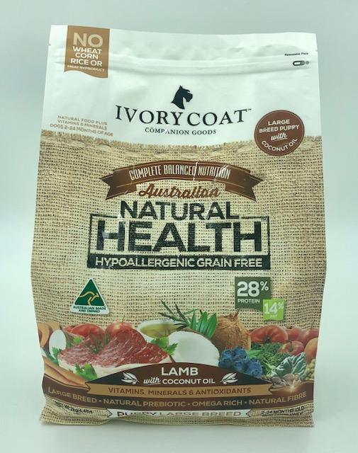 IVORY COAT PUPPY LARGE BREED LAMB WITH COCONUT OIL 2KG - City Country Pets and Supplies