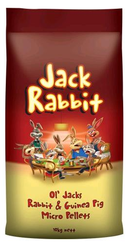 JACK RABBIT OL' JACKS RABBIT AND GUINEA PIG MICRO PELLETS 10KG - City Country Pets and Supplies