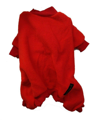 KICKATINALONG FLEECE DOG COAT RED #2 APPROX. 35CM - City Country Pets and Supplies