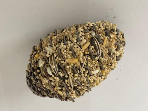 LARGE PINECONE SMALL PARROT BIRD SEED MIX TREAT WITH HOOK - City Country Pets and Supplies