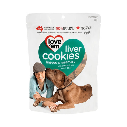 LOVE EM LIVER COOKIES LSEED RMY 450G - City Country Pets and Supplies