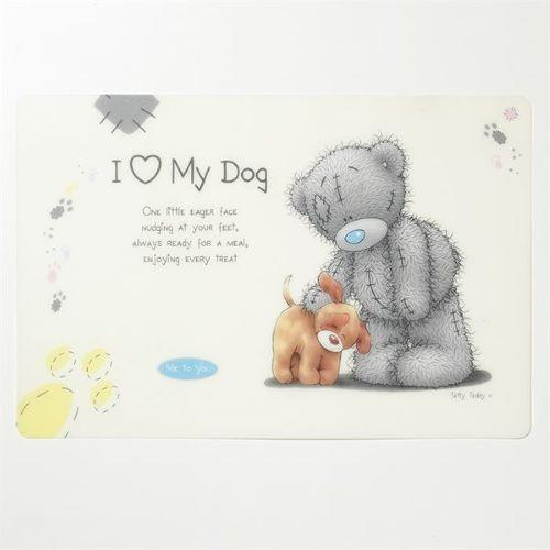 "ME TO YOU ""I HEART MY DOG"" FEEDING MAT 30X45.2CM - City Country Pets and Supplies"
