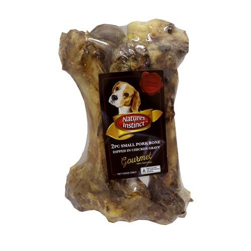 NATURES INSTINCT CHICKEN GRAVY DIPPED PORK BONE SMALL 2PC - City Country Pets and Supplies