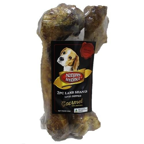 NATURES INSTINCT LAMB SHANKS LIVER DIPPED 2PC - City Country Pets and Supplies