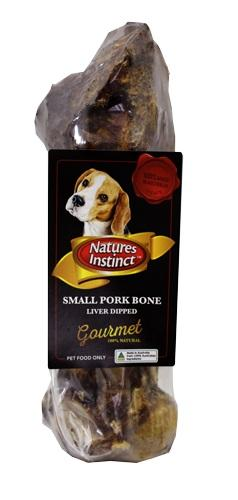 NATURES INSTINCT SMALL PORK BONE LIVER DIPPED - City Country Pets and Supplies