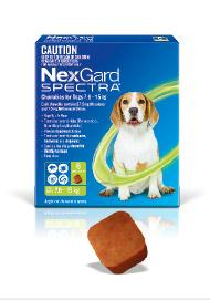 NEXGARD SPECTRA FLEA, TICK AND WORM TREATMENT CHEWS FOR DOGS 7.6-15KG 6PK - City Country Pets and Supplies