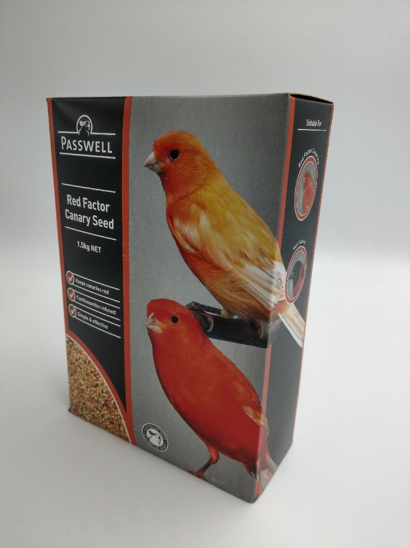 PASSWELL RED FACTOR CANARY SEED 1.5KG - City Country Pets and Supplies