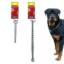 Load image into Gallery viewer, PET ONE CHAIN CHECK COLLAR SILVER 2.5MM 50CM - City Country Pets and Supplies