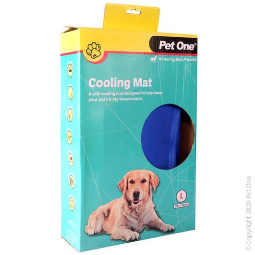 PET ONE COOLING MAT BEDDING GEL BED L 70X110CM (47759) - City Country Pets and Supplies