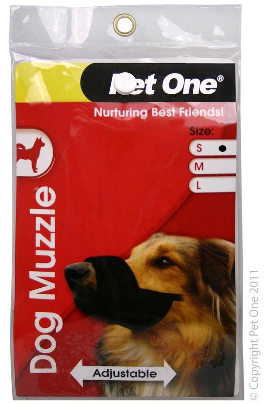 PET ONE DOG MUZZLE NYLON ADJUSTABLE (SMALL BLACK) - City Country Pets and Supplies