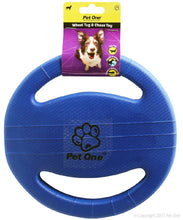 Load image into Gallery viewer, PET ONE DOG TOY TUG AND CHASE WHEEL (BLUE) - City Country Pets and Supplies