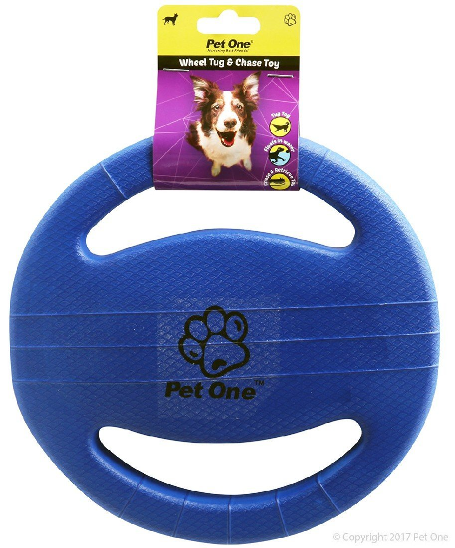 PET ONE DOG TOY TUG AND CHASE WHEEL (BLUE) - City Country Pets and Supplies