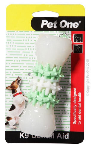 PET ONE K9 DOG DENTAL AID SMALL 10.6LX5.4CMDIA - City Country Pets and Supplies