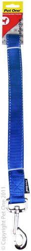 PET ONE LEASH NYLON REFLECTIVE 20MM - 150CM BLUE - City Country Pets and Supplies