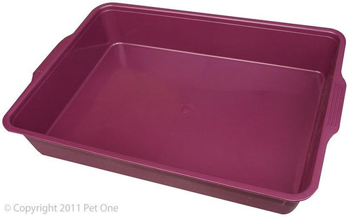 PET ONE LITTER TRAY RECTANGLE (MEDIUM - 44LX31WX7CMH) (MIXED COLOURS) - City Country Pets and Supplies