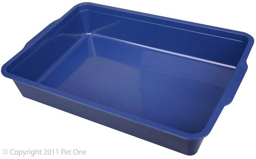 PET ONE LITTER TRAY RECTANGLE (SMALL - 37LX25WX7CMH) (MIXED COLOURS) - City Country Pets and Supplies