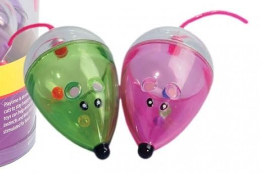 PET ONE PLASTIC MOUSE CAT TOY 7CM SINGLE (COLOUR VARIES) - City Country Pets and Supplies