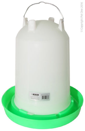 PET ONE POULTRY GRAVITY DRINKER 14L (37CM DIA X 41CM H) 55714 - City Country Pets and Supplies