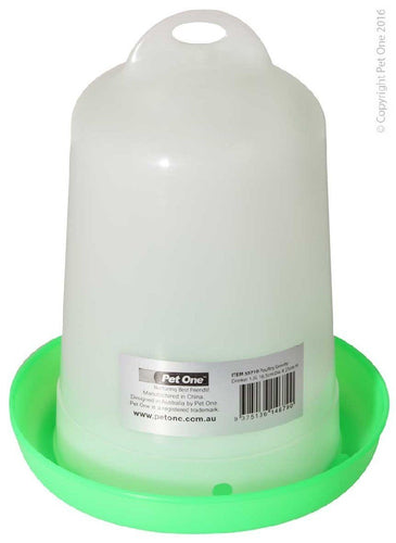 PET ONE POULTRY GRAVITY DRINKER 1.5L (16.5CM DIA X 21CM H) 55710 - City Country Pets and Supplies