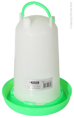 PET ONE POULTRY GRAVITY DRINKER 3L (21.5CM DIA X 27CM H) 55711 - City Country Pets and Supplies